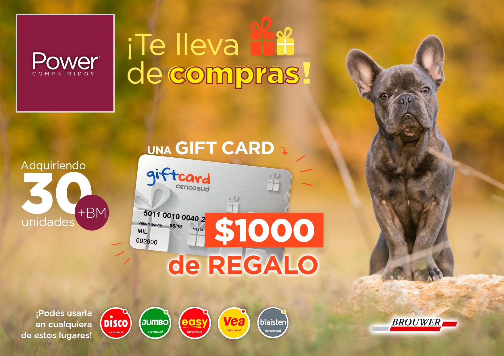 Gift card Cencosud | Power Comprimidos